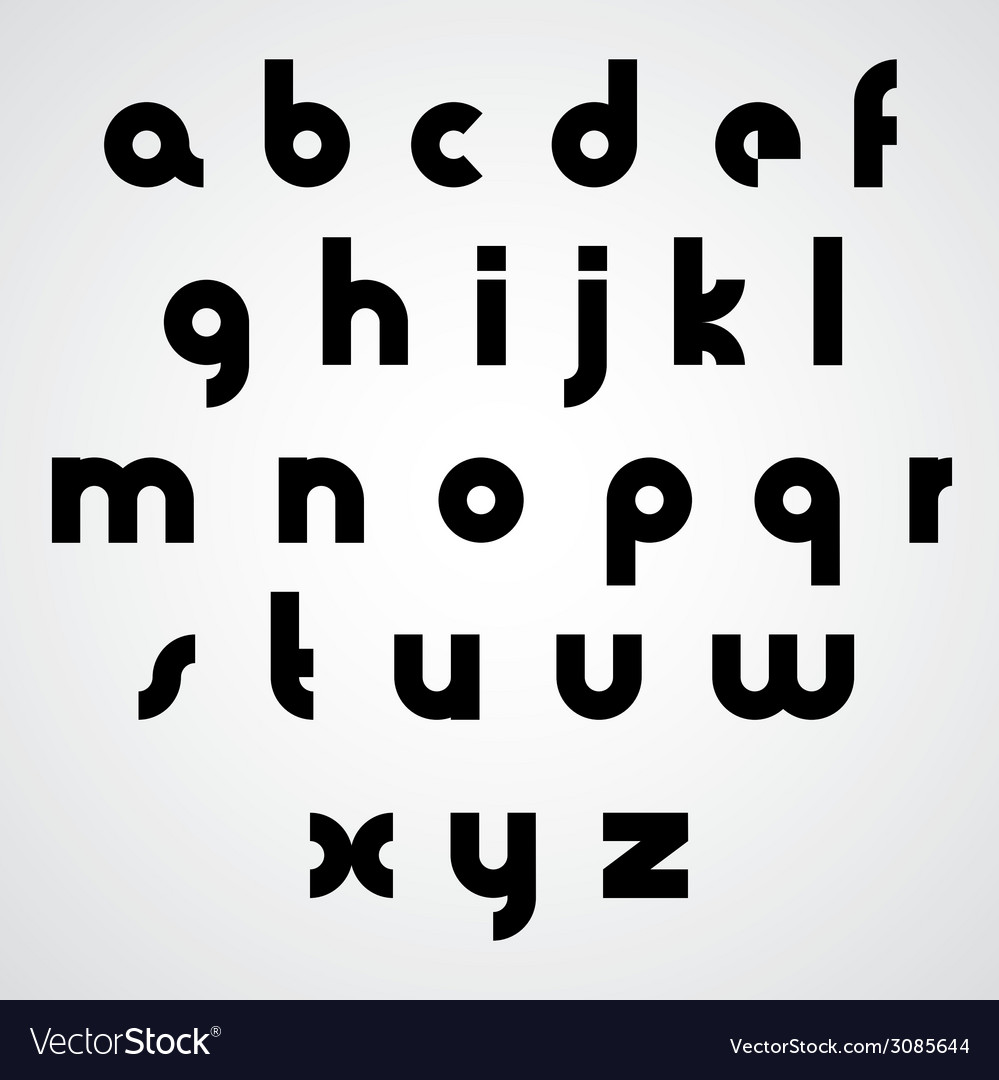 Alphabet modern style simplistic font vector | Price: 1 Credit (USD $1)