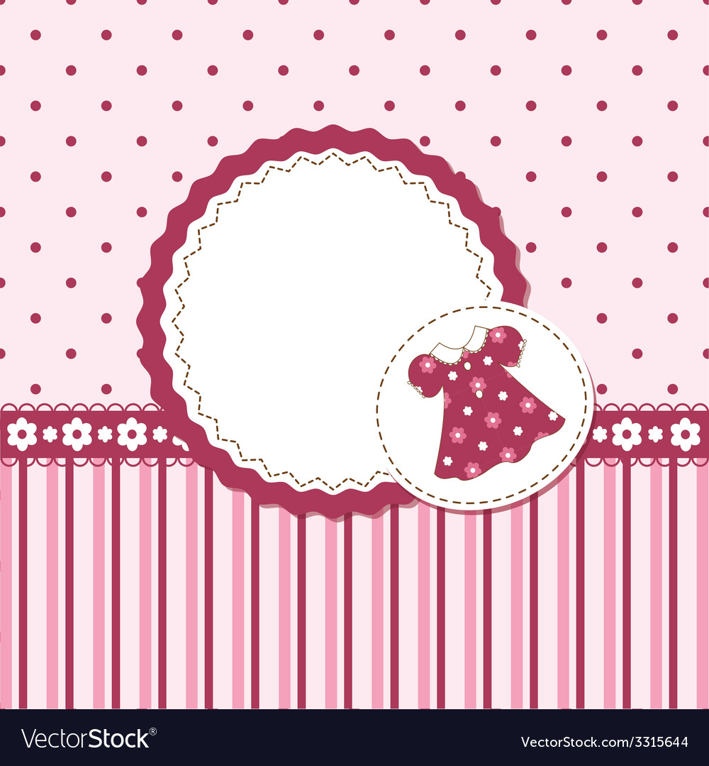 Baby girl background vector | Price: 1 Credit (USD $1)