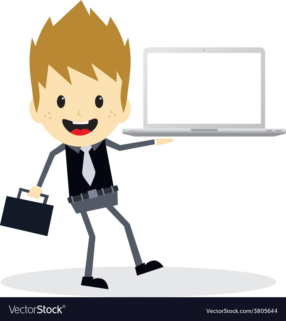 Business presentation cartoon character vector   Price: 1 Credit (USD $1)