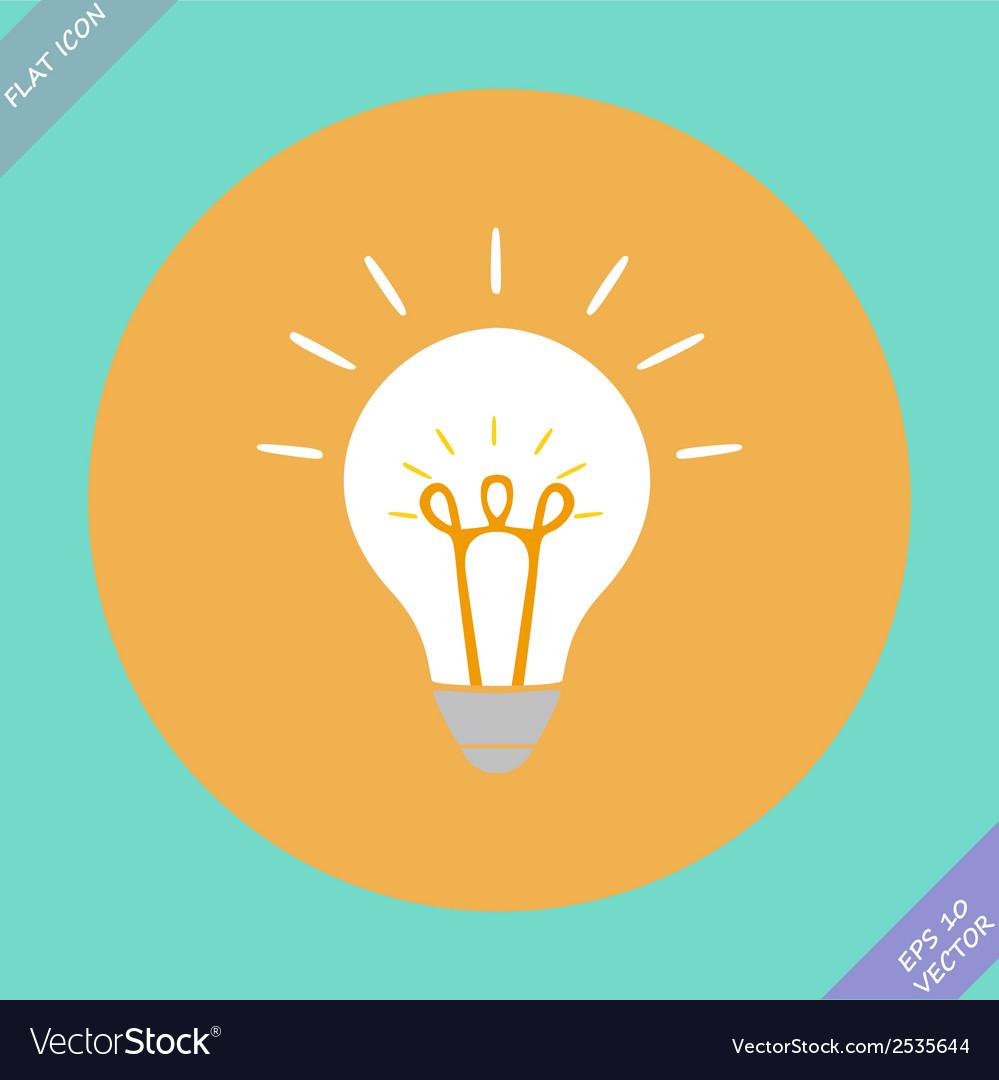 Creative idea in bulb shape as inspiration concept vector | Price: 1 Credit (USD $1)