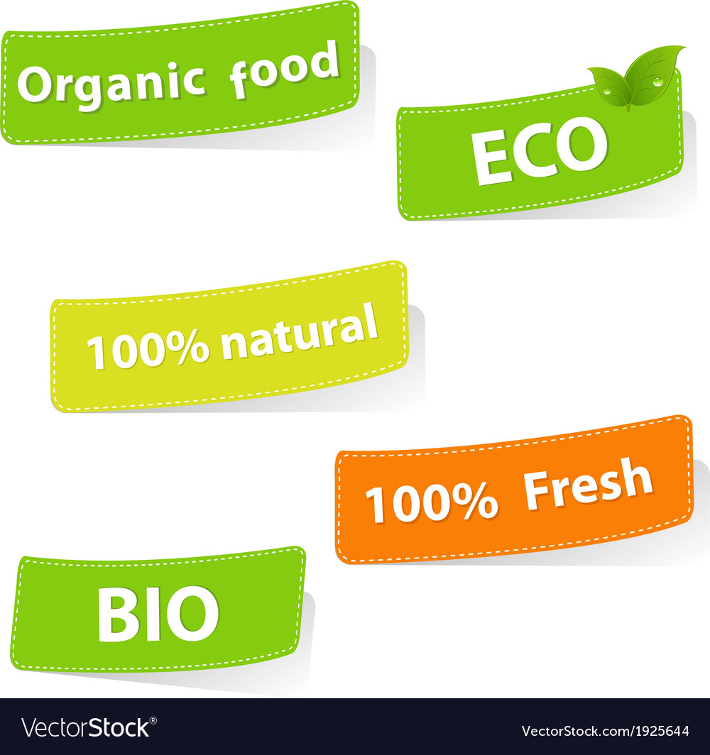 Eco stickers vector | Price: 1 Credit (USD $1)