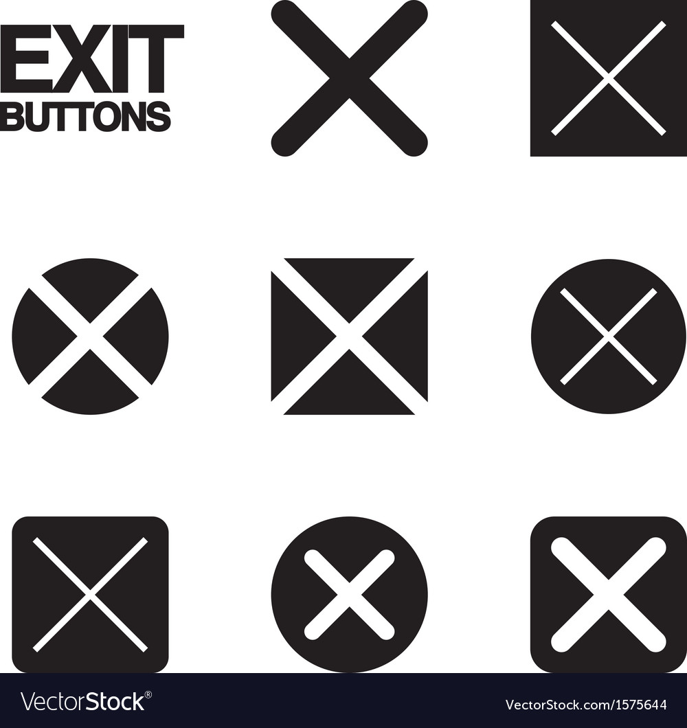 Exit buttons vector | Price: 1 Credit (USD $1)