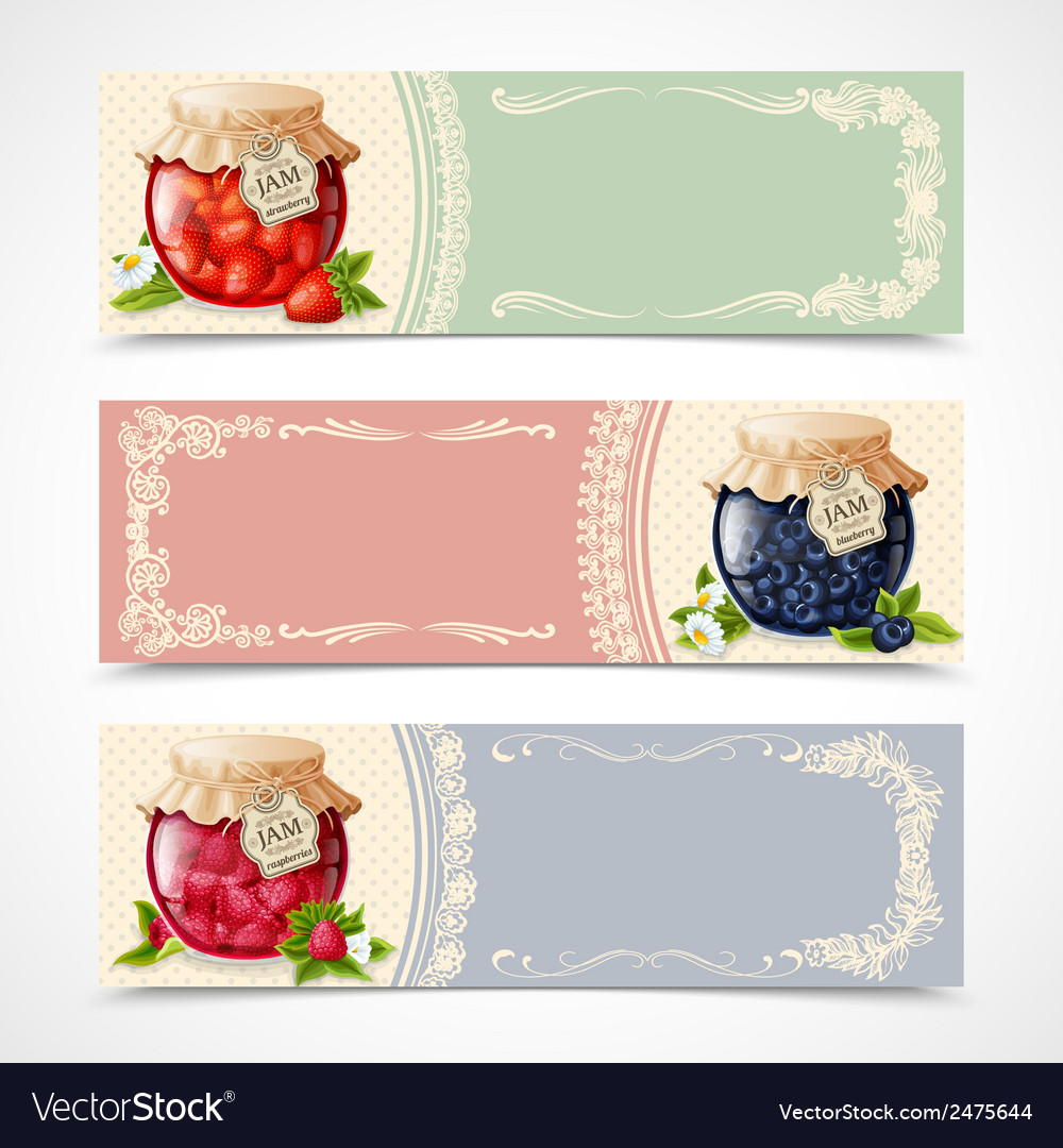 Jam banners set vector | Price: 1 Credit (USD $1)
