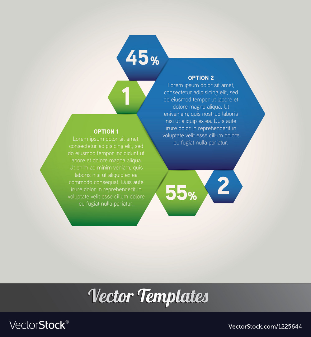 Option tabs template vector | Price: 1 Credit (USD $1)