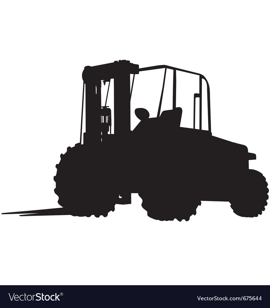 Rough terrain forklift silhouette vector | Price: 1 Credit (USD $1)