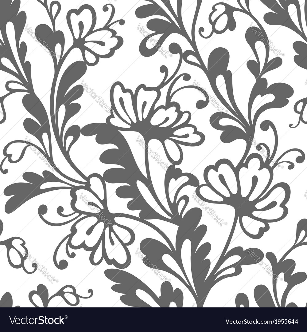 Seamless flower lace pattern vector | Price: 1 Credit (USD $1)