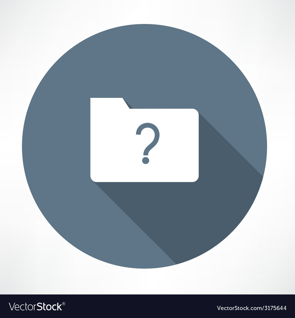 Unknown folder icon vector | Price: 1 Credit (USD $1)