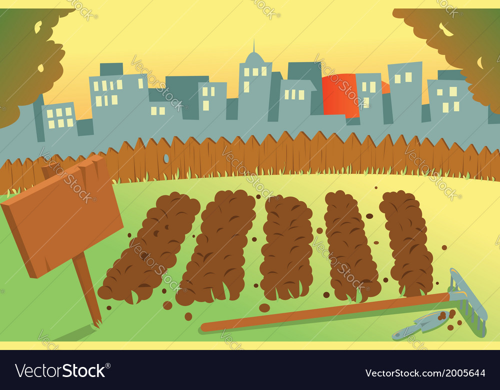 Vegetable garden in a city vector | Price: 1 Credit (USD $1)