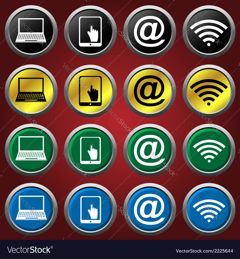 Web icons icons vector | Price: 1 Credit (USD $1)