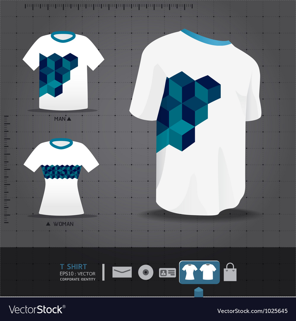Abstract uniform t-shirt design vector | Price: 3 Credit (USD $3)
