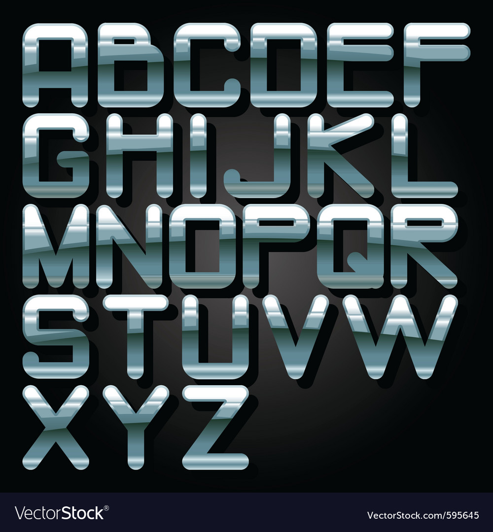 Alphabet chrome vector | Price: 1 Credit (USD $1)