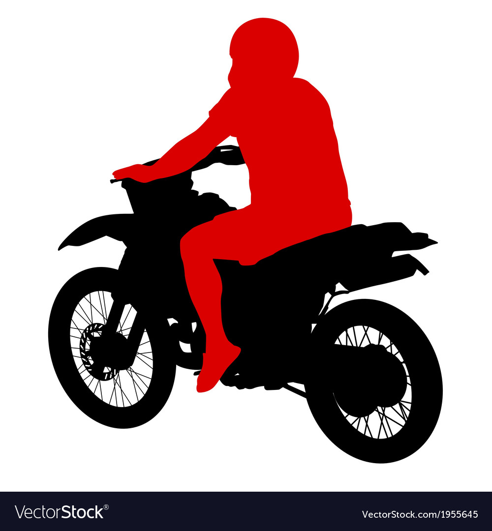 Black silhouettes sport bike on white background vector | Price: 1 Credit (USD $1)