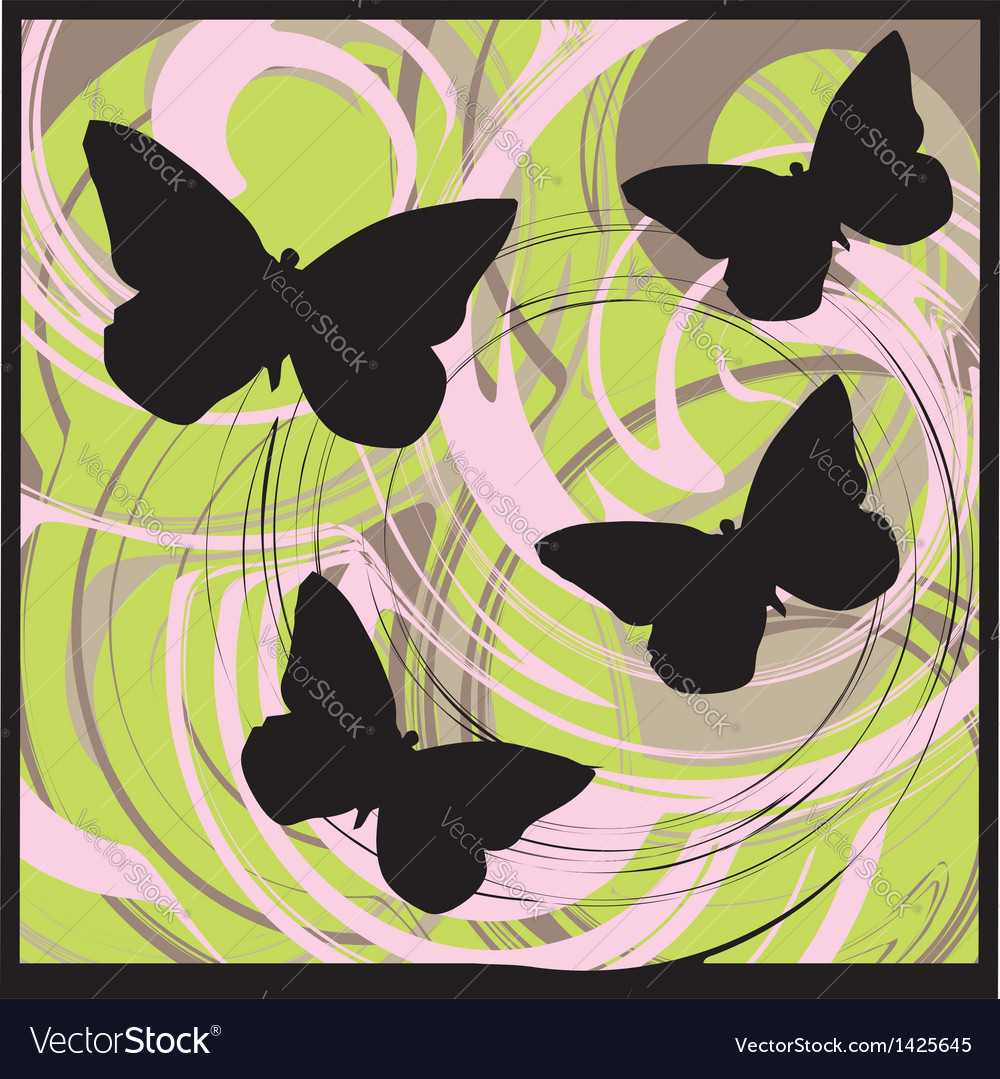 Butterflys vector | Price: 1 Credit (USD $1)