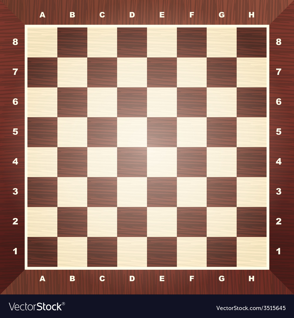 Empty chess board vector | Price: 1 Credit (USD $1)