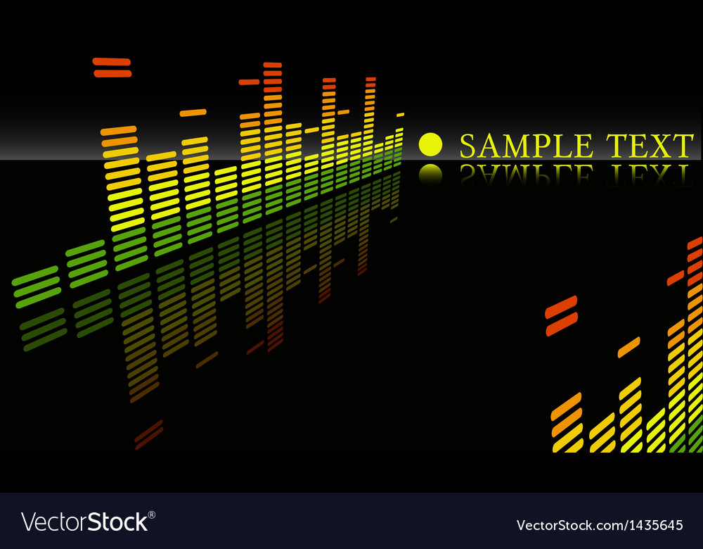 Equalizer abstract background vector | Price: 1 Credit (USD $1)