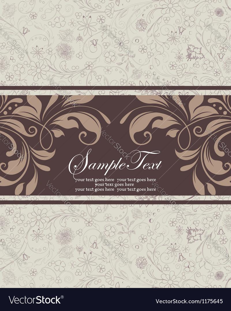 Floral vintage invitation vector | Price: 1 Credit (USD $1)