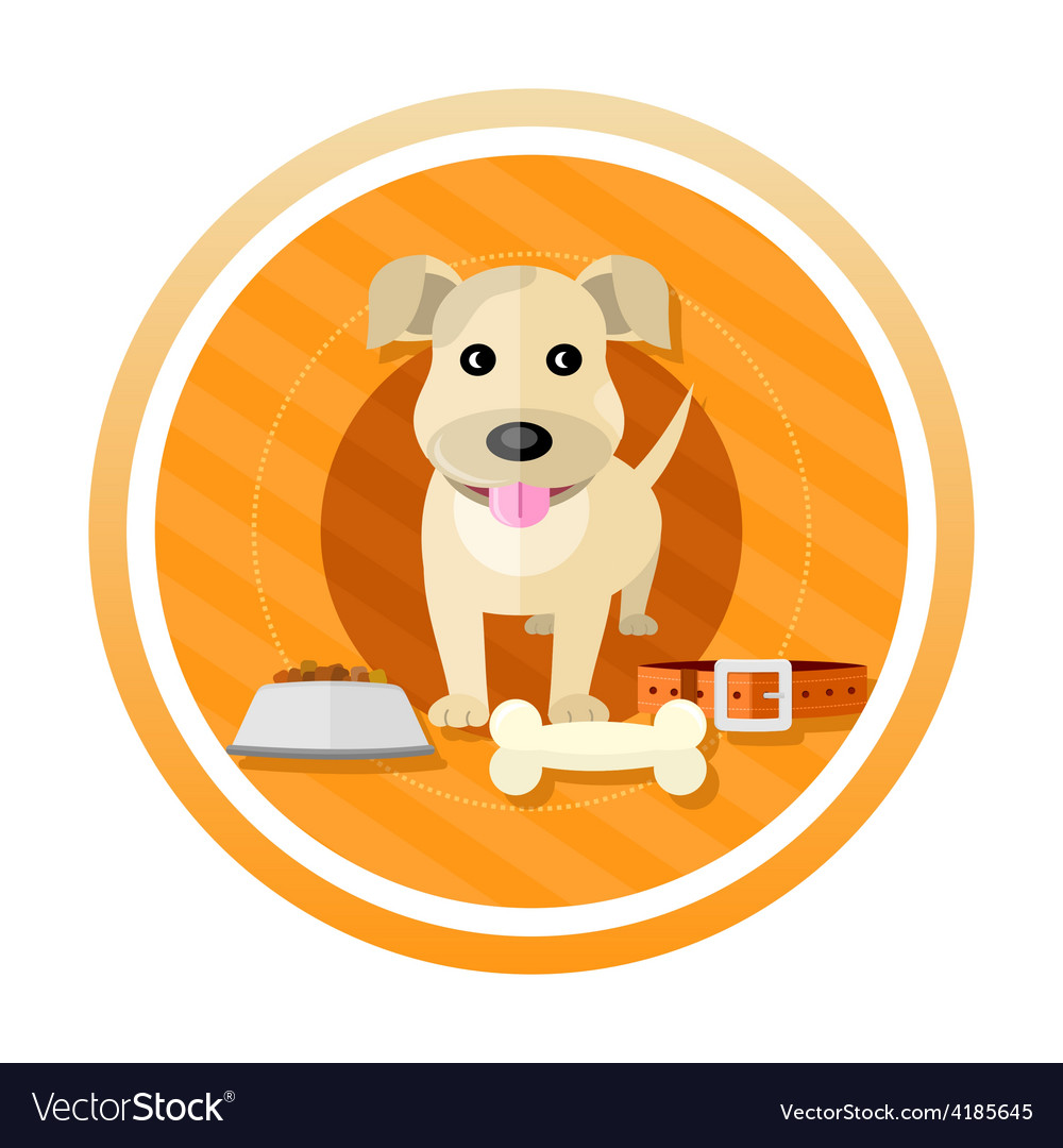 Hungry dog vector | Price: 1 Credit (USD $1)