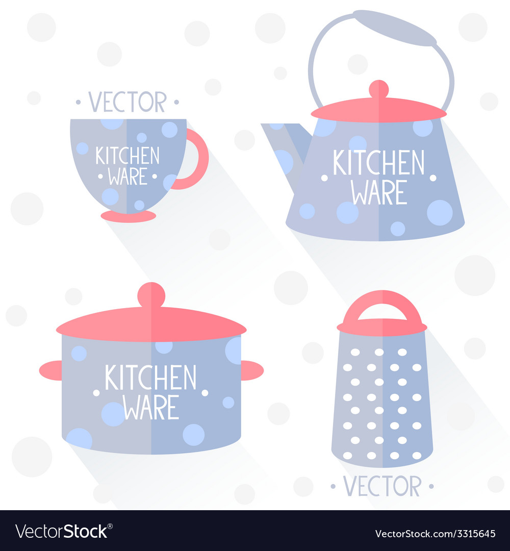 Kitchenware flat vector | Price: 1 Credit (USD $1)