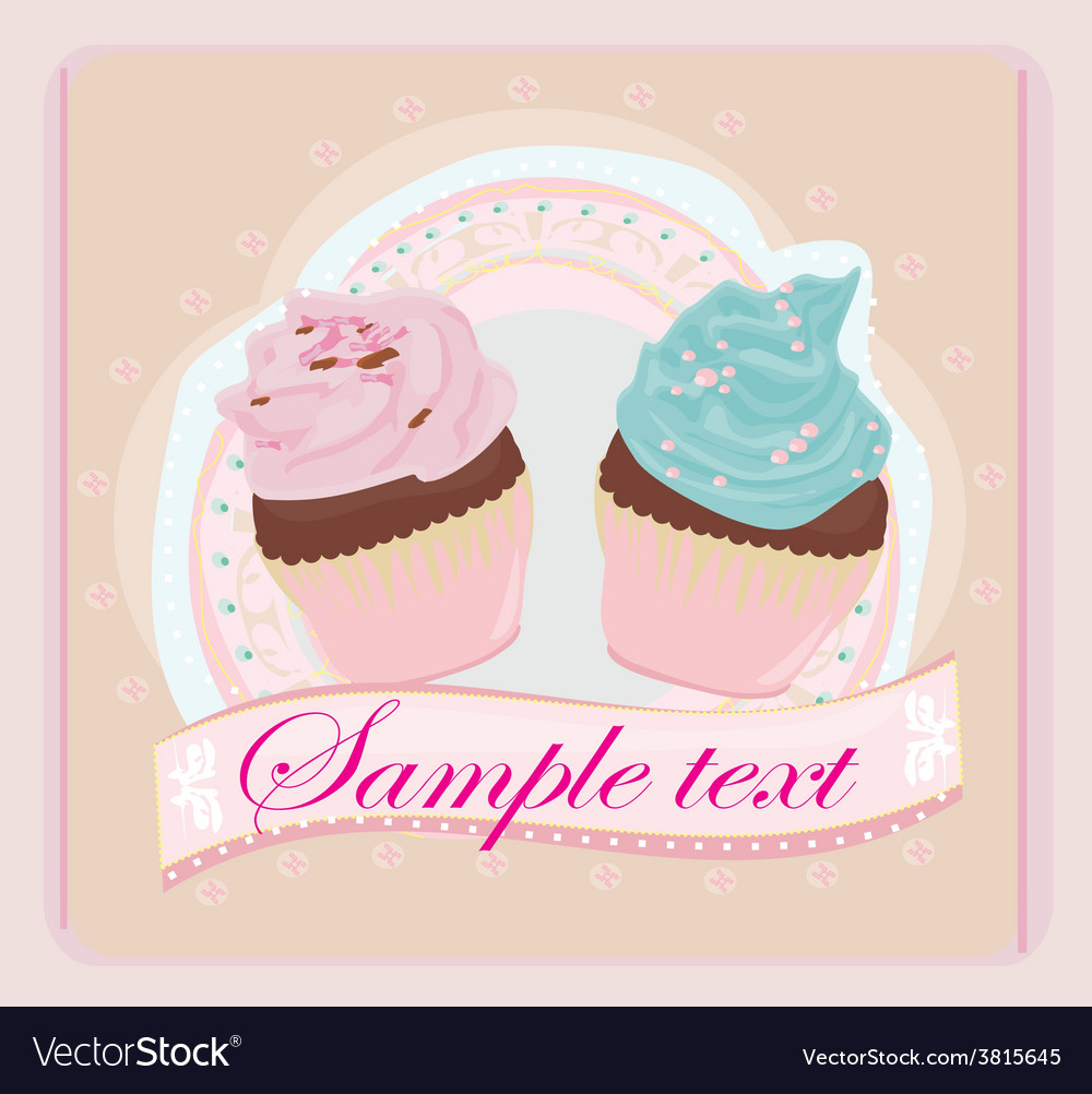 Lovely cupcakes design vector | Price: 1 Credit (USD $1)