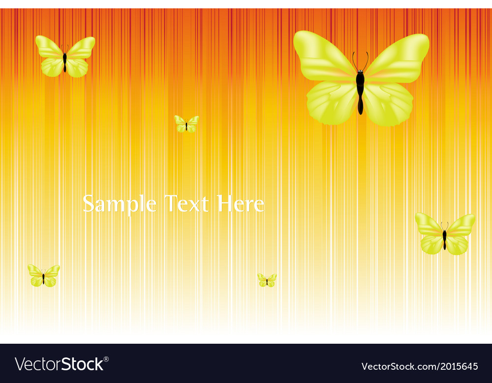 Solar background with butterflies vector | Price: 1 Credit (USD $1)