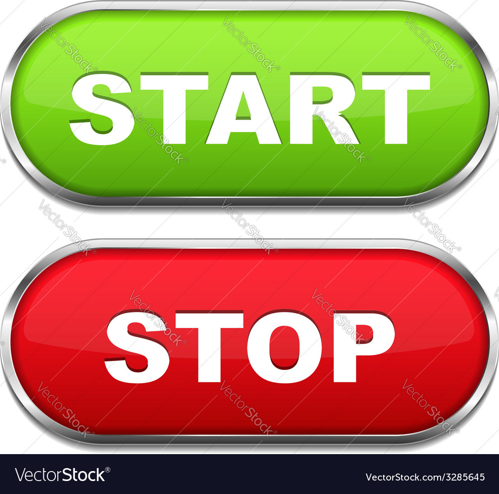 Start and stop buttons vector | Price: 1 Credit (USD $1)