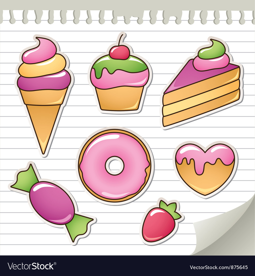 Sweet stickers vector | Price: 1 Credit (USD $1)