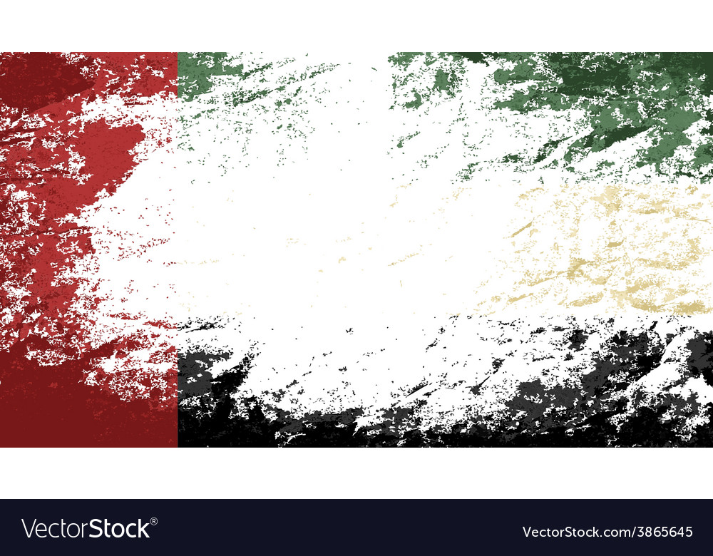 United arab emirates flag grunge background vector | Price: 1 Credit (USD $1)