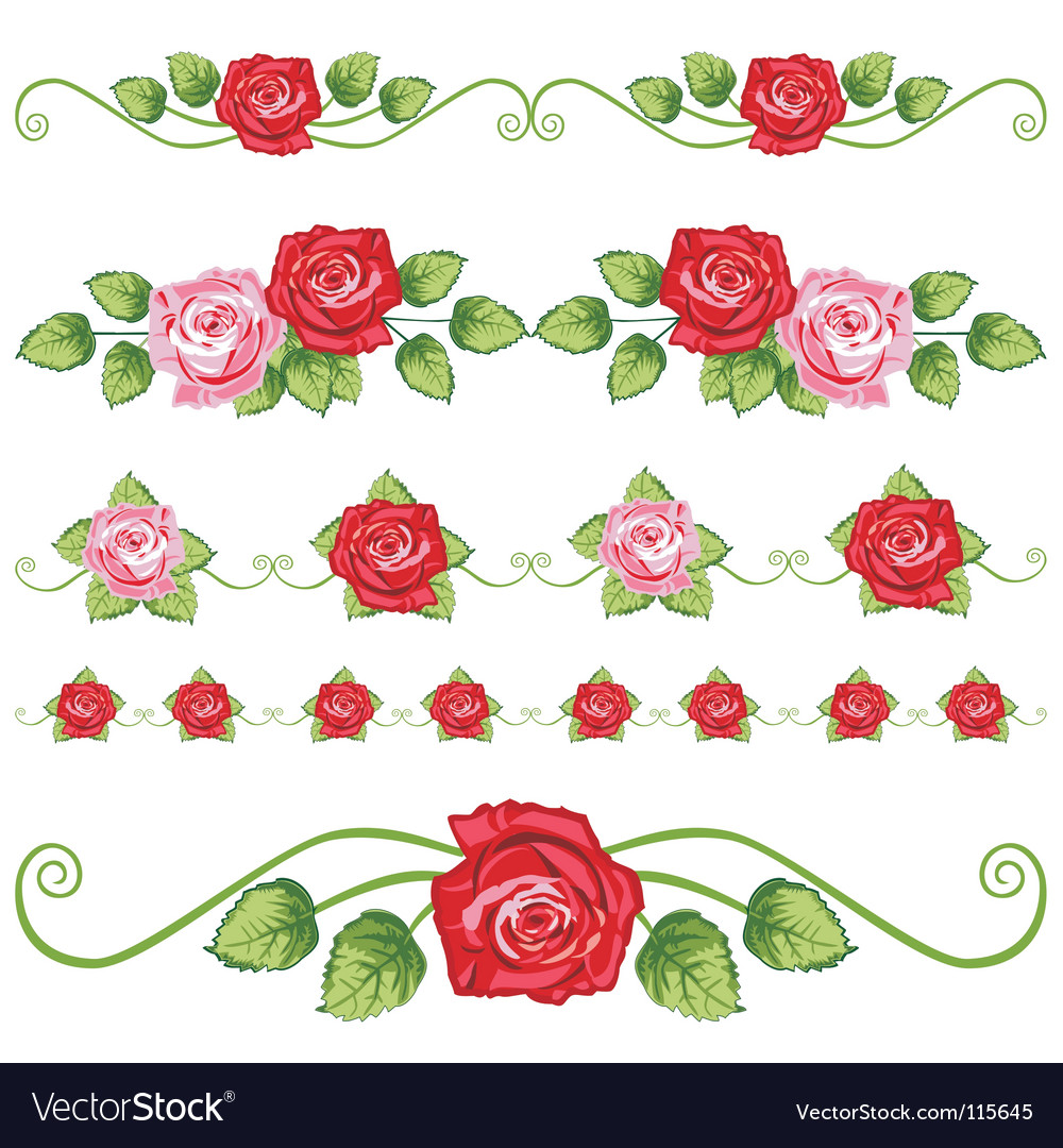 Vintage roses vector | Price: 1 Credit (USD $1)