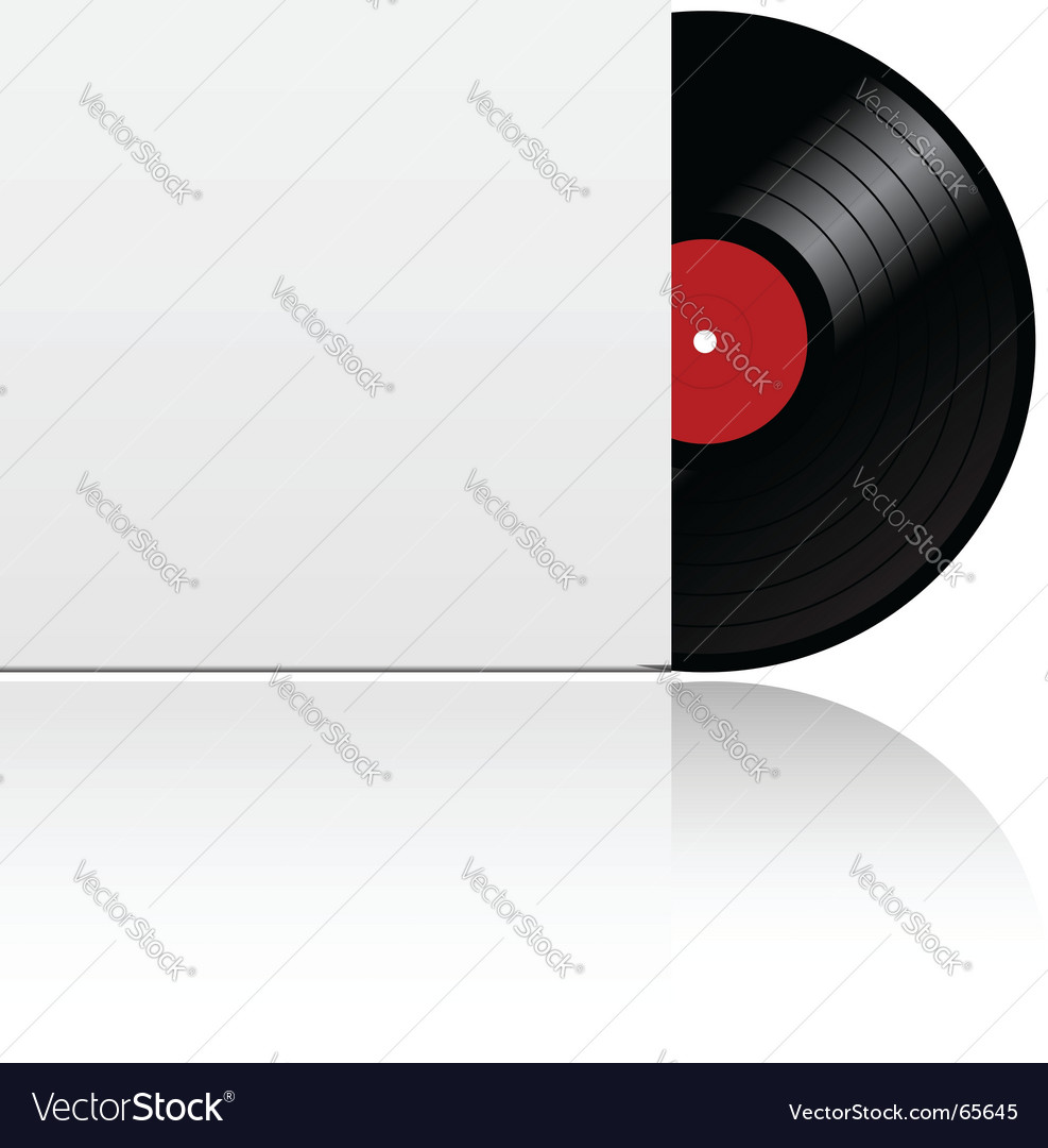 Vinyl record in box vector | Price: 1 Credit (USD $1)