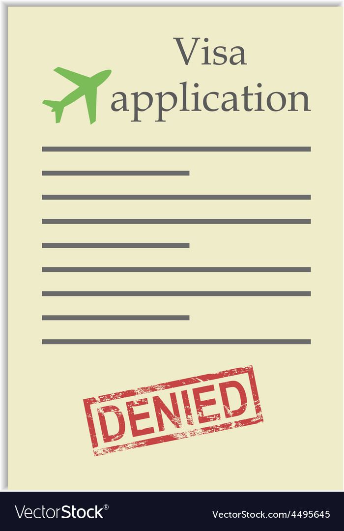 Visa application with denied stamp vector | Price: 1 Credit (USD $1)