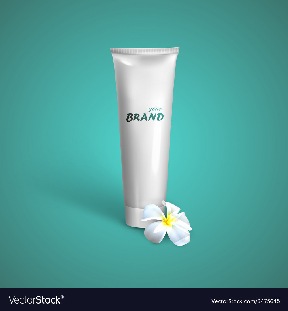 White tube mock-up for cream tooth paste or gel vector | Price: 1 Credit (USD $1)