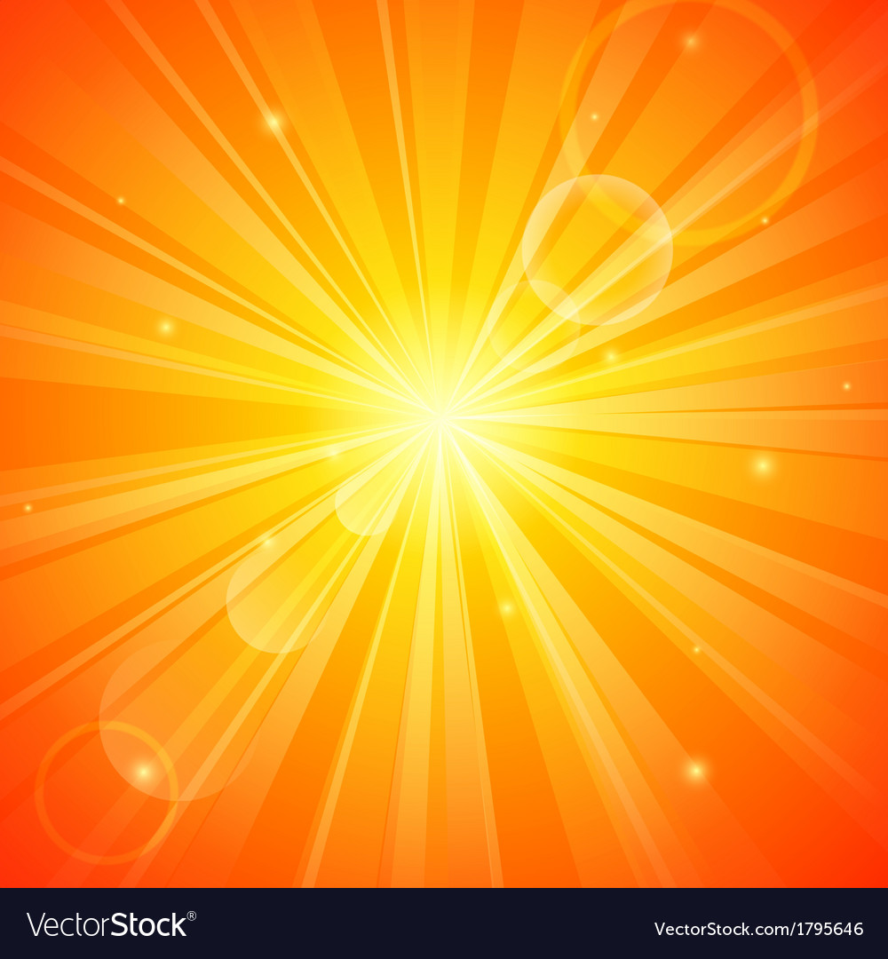 Abstract orange sunny background vector | Price: 1 Credit (USD $1)