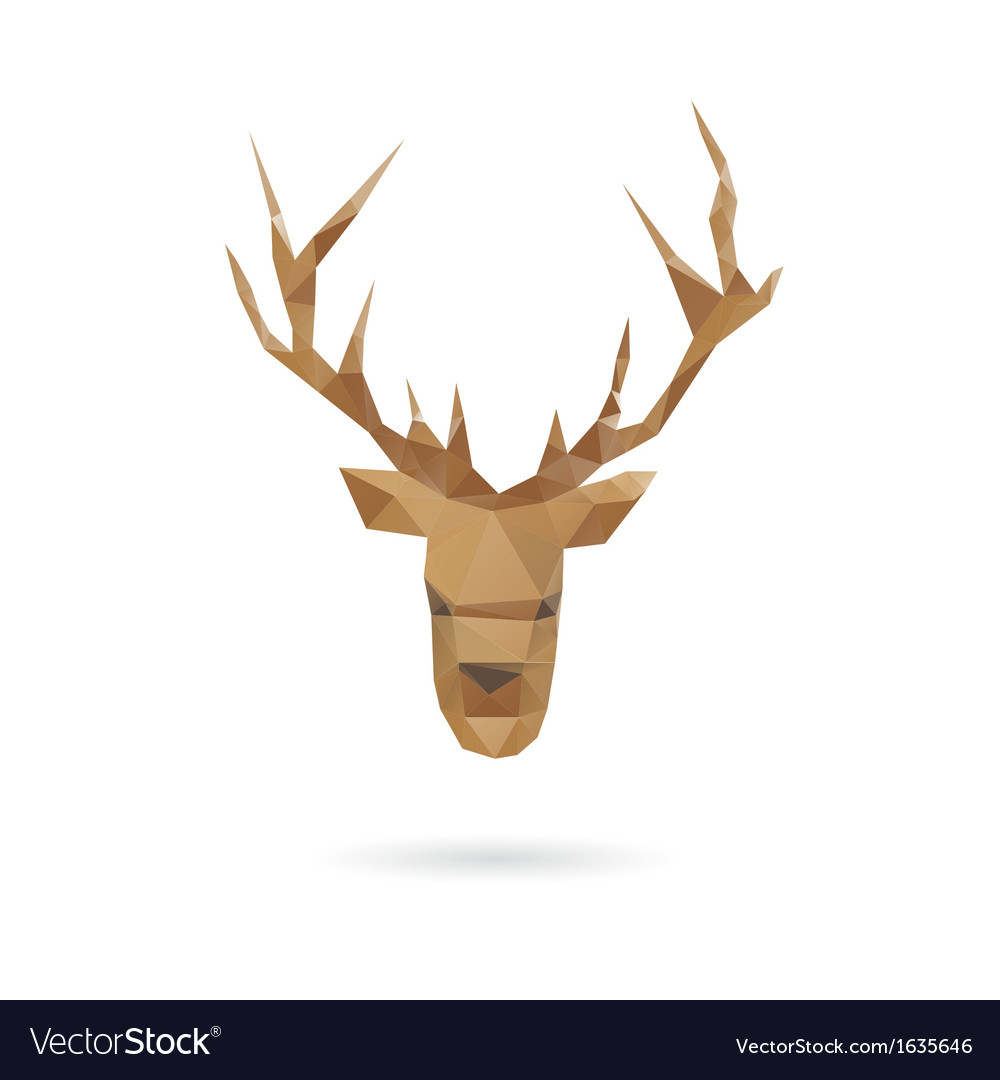 Deer head abstract isolated vector | Price: 1 Credit (USD $1)