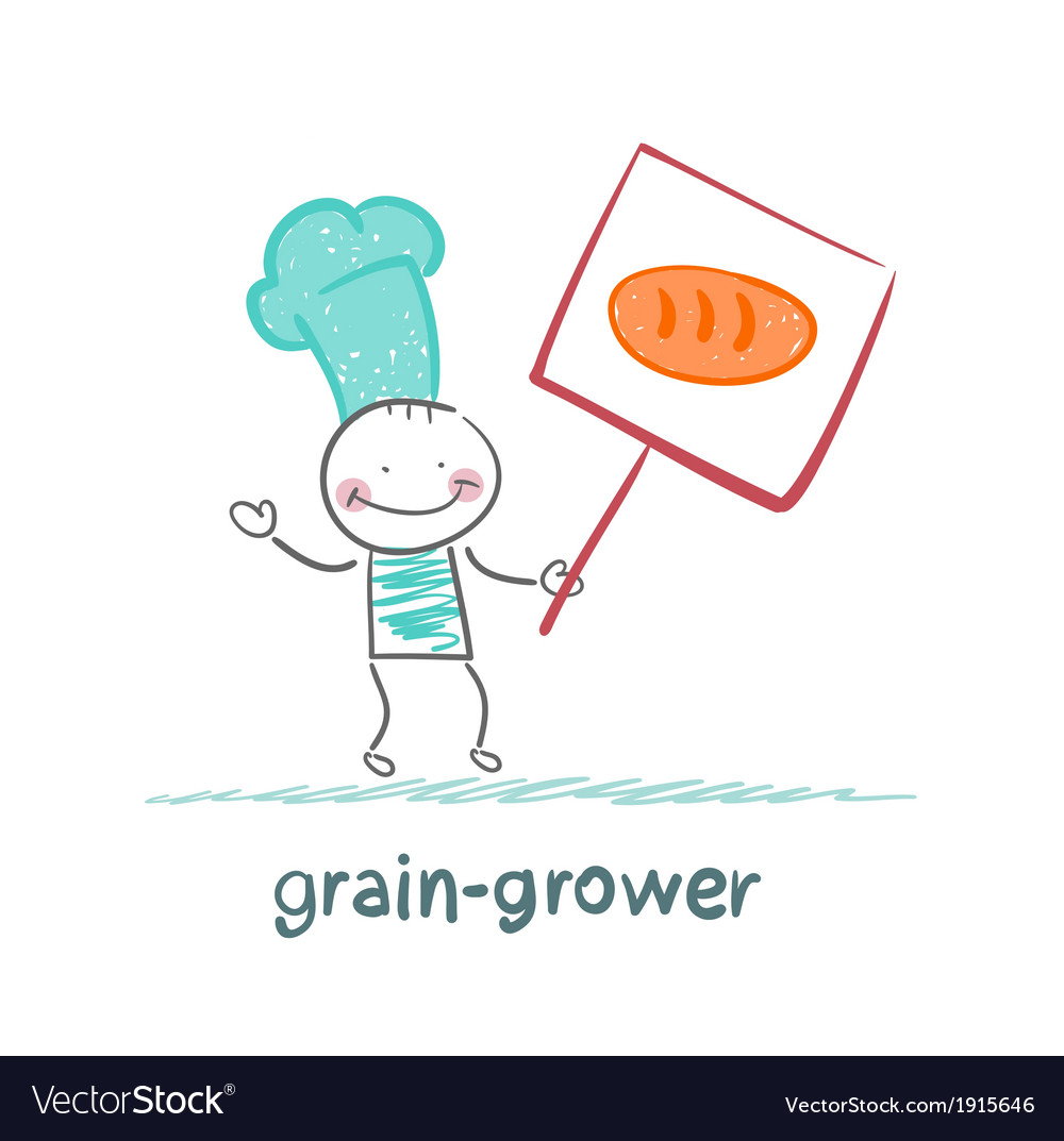 Grain grower in love with bread vector | Price: 1 Credit (USD $1)