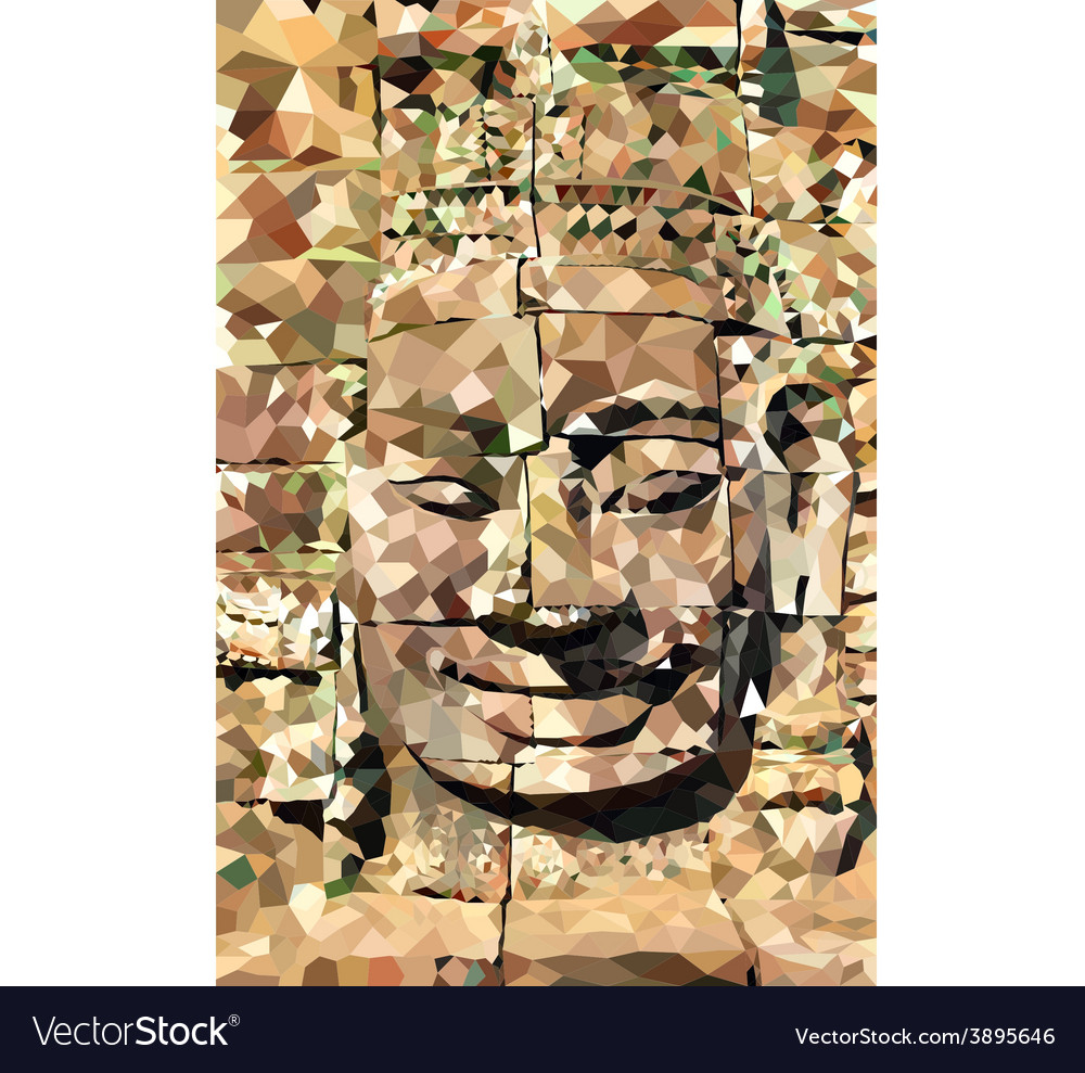 Poly buddha face vector | Price: 1 Credit (USD $1)