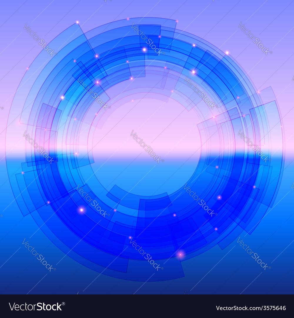 Retro-futuristic background with blue segmented vector | Price: 1 Credit (USD $1)