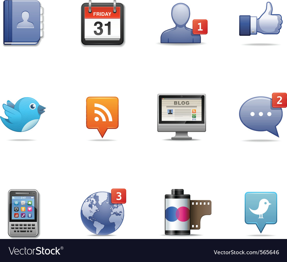Social network pack vector | Price: 3 Credit (USD $3)