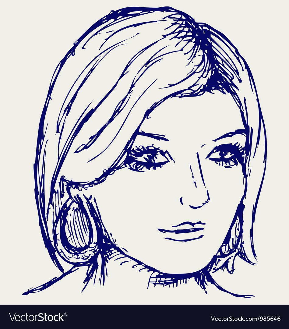 Woman portrait vector | Price: 1 Credit (USD $1)