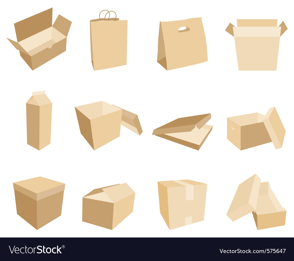 Boxes and packages vector | Price: 1 Credit (USD $1)