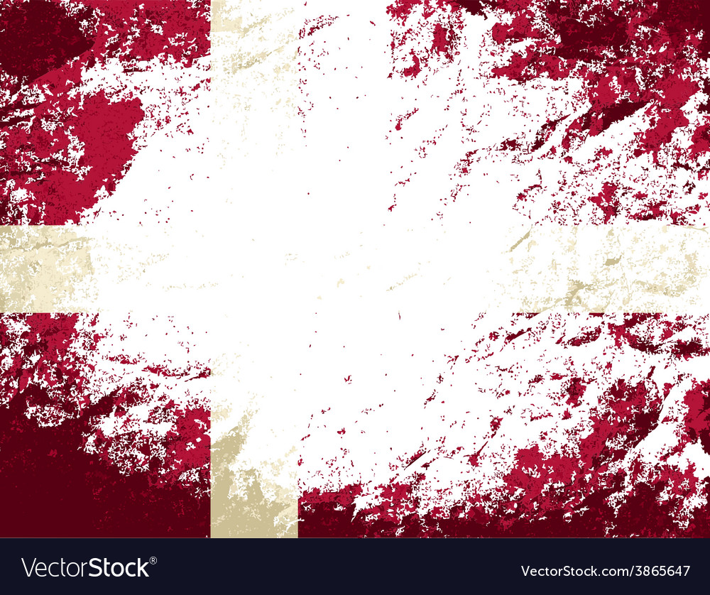 Danish flag grunge background vector | Price: 1 Credit (USD $1)