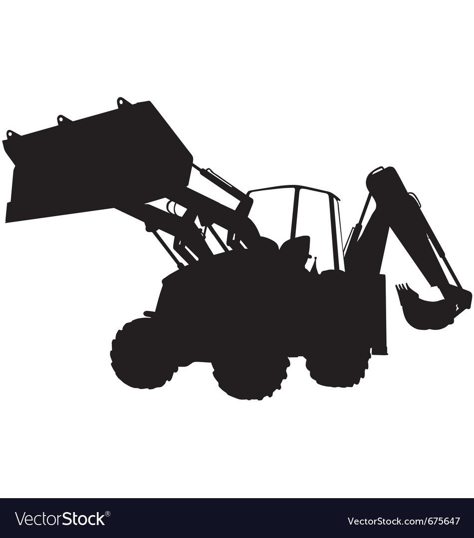 Digger silhouette vector | Price: 1 Credit (USD $1)