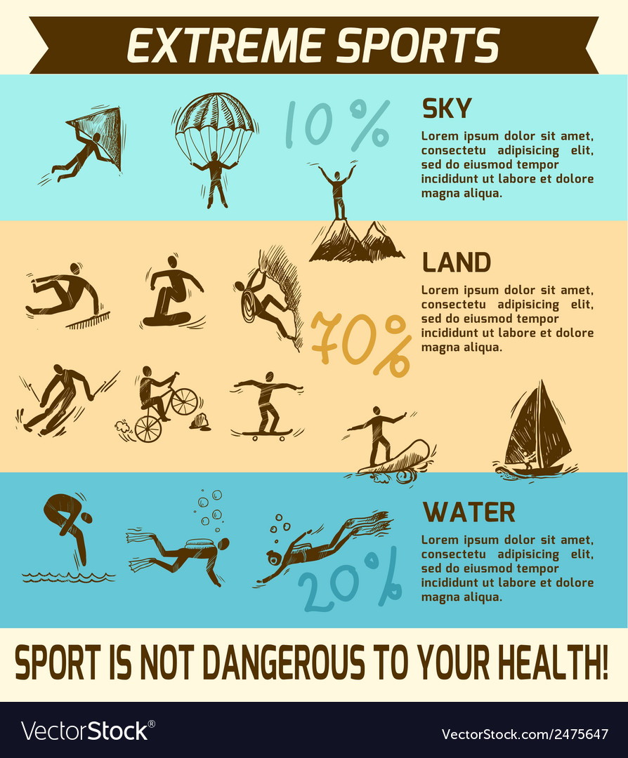 Extreme sports infographic vector | Price: 1 Credit (USD $1)