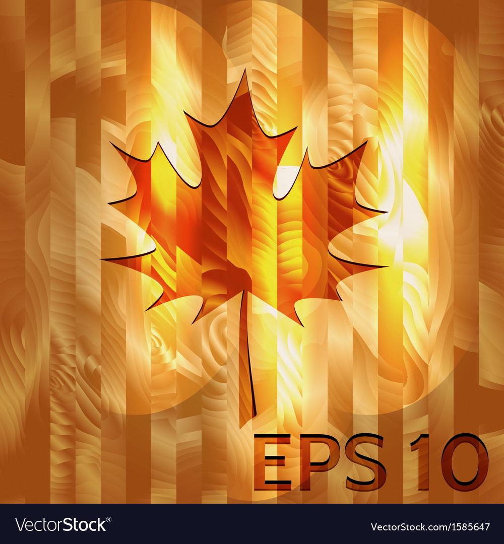 Maple leaf on hardwood texture vector | Price: 1 Credit (USD $1)