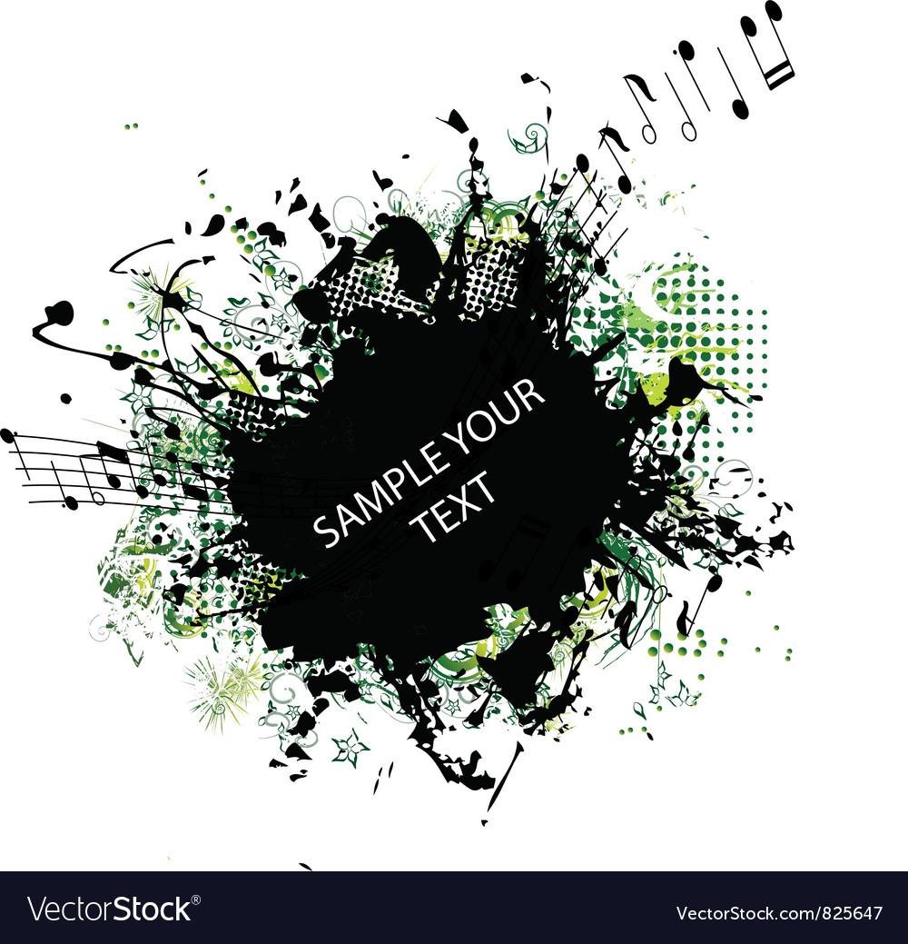 Music grunge frame vector | Price: 1 Credit (USD $1)
