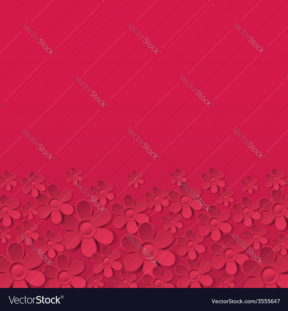 Red valentine background with many flowers vector | Price: 1 Credit (USD $1)