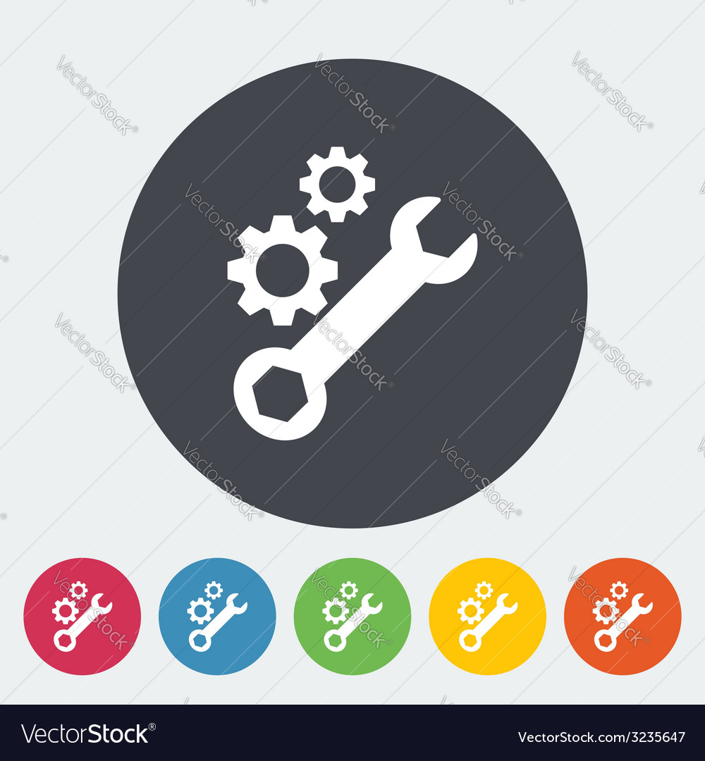 Setting single icon vector | Price: 1 Credit (USD $1)