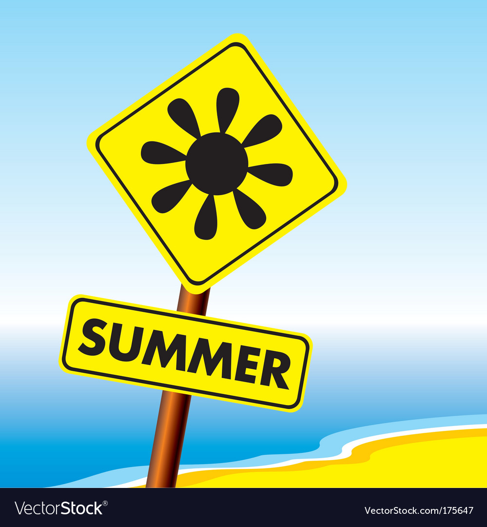 Summer sign vector | Price: 1 Credit (USD $1)