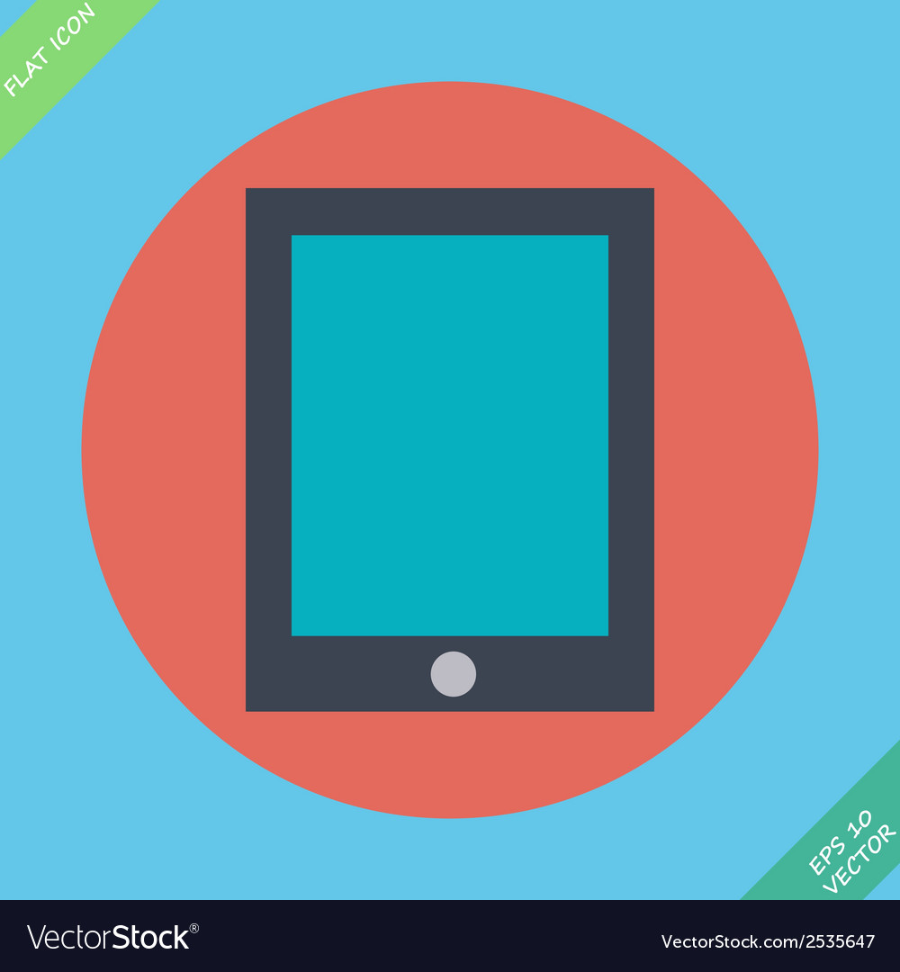 Tablet icon -  flat design vector | Price: 1 Credit (USD $1)