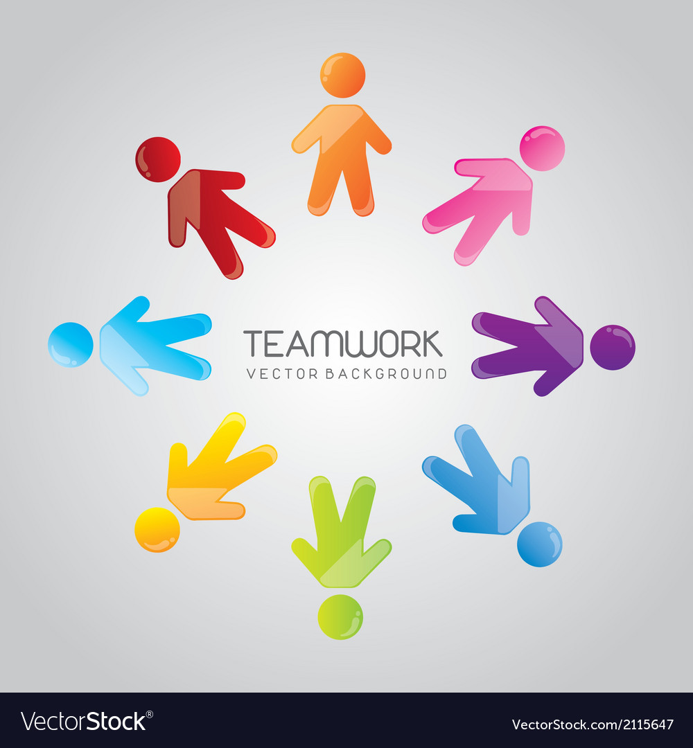 Teamwork vector | Price: 1 Credit (USD $1)