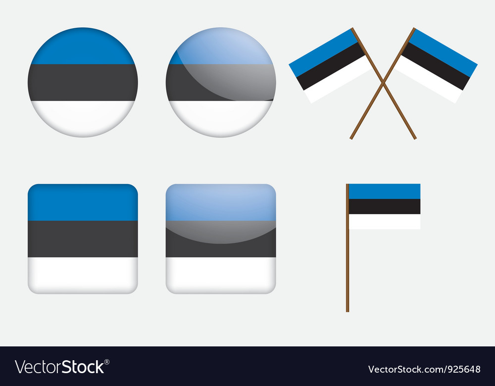 Badges with estonia flag vector | Price: 1 Credit (USD $1)